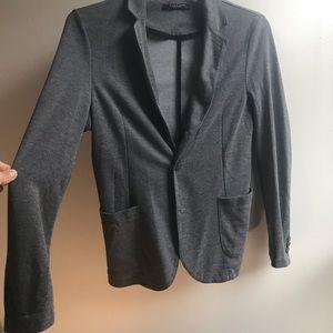 Zara casual cotton gray blazer